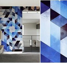 #geometric #blue