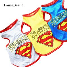 Fashion Summer Breathable Cotton Superman Pattern Dog Clothes Sport Style Vest T-shirt With Patterned Pet Clothing #>=#>=#>=#>=#> Click on the pin to check out discount price, color, size, shipping, etc. Save and like it!