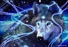 Blue wolf spirit
