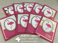 My Pink Stamper: Day 7 of A Card a Day in May, Giveaway, NEW Stamp Set Preview!