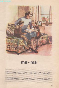 Abecedar 1959 – Un zâmbet de copil… Vintage School, Kids Education, Nostalgia, Parenting, Activities, Books, Texts, Livros, Childcare