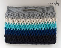 Free Crochet Pattern: Chroma Crochet Bag - choose your colors and then choose your style!...three styles, has a video tutorial for the stitch used in this. I love the look of this stitch!