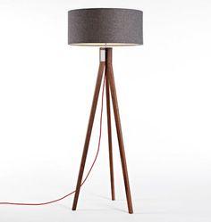 Folk Floor Lamp Walnut