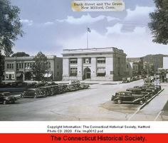 Bank Street and the Green, New Milford, CT        C. 1938