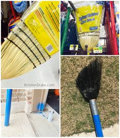 How To make a Giant Paint Brush out of a broom - great tutorial for artist birthday party or home playroom decor | KristenDuke.com