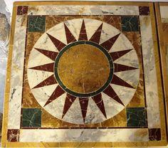 "Marble Inlaid ""Ostia Adriana"" top"