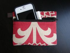 Keychain Wallet in Sun Drenched Red by stitch248 on Etsy, $12.00