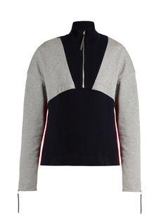 High-neck stretch-cotton ribbed-knit sweater | Marni | MATCHESFASHION.COM US