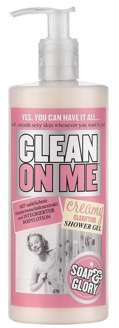 Soap & Glory Clean on Me body wash, I use this as shampoo..the most amazing stuff ever!
