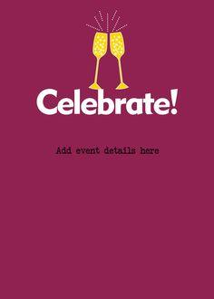 Celebrate+Champagne Invitation
