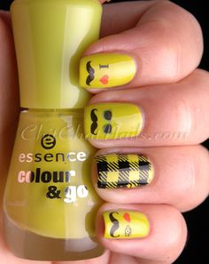 from ChitChatNails:  I *heart* Mustache