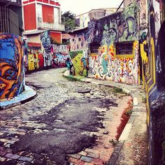 Beco do Batman (Batman Alley) in São Paulo, SP