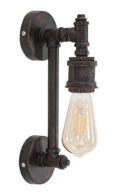 #MauroFerrettiSrl 1710010000 LAMPADA DA MURO MANHATTAN CM 9X13,5X32 #mauroferrettisrl #home #homedecor #decor #casa #arredo #arredamento #lampada #lampadadamuro #walllamp #lamp #manhattan #industrial #industriallight #light #luce #illuminazione #stileindustriale #industrialstyle #metal #iron #ferro #metallo #newitem #newlook #italiansdoitbetter