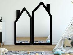Lustro dla dzieci HOUSE z czarną ramą / zestaw 2 sztuk - Internetowy sklep meblowy Onemarket.pl - #lustro #lustrodladziecka #dladziecka #dziecko #pokójdziecięcy #design #nowoczesnelustro #pokójdladzieci #lustrodopokojudziecięcego Mirror, Table, House, Furniture, Home Decor, Decoration Home, Home, Room Decor, Mirrors