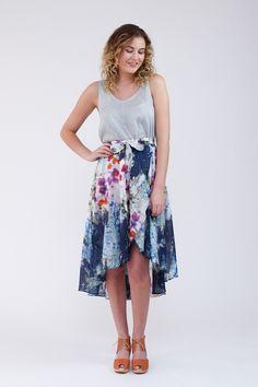 Cascade skirt sewing pattern from Megan Nielsen