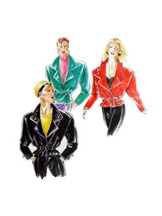 Neue Mode 21565 Jacket with Self Tie or Belt and Notched Lapel Variations, Uncut, Factory Folded Sewing Pattern Multi Size Spanish Pattern, 1980s, Sewing Patterns, Size 10, Buy And Sell, Belt, Coats, Tie, Jackets