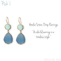 Ameilia Stone Drop Earrings via Stitch Fix