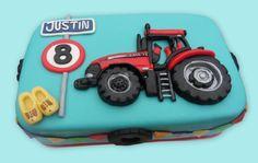 Case tractor cake - case trekker taart