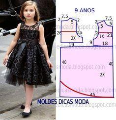 Como hacer vestidos elegantes para niñas06                              …
