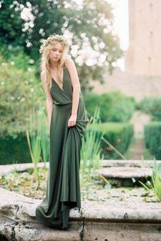 Lovely green boho dress