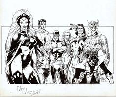 Classic X-Men by Art Adams, 1985.