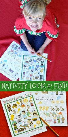 This Christmas nativity look and find printable is a perfect activity to do with your little ones this holiday season. Free to print and fun to use!