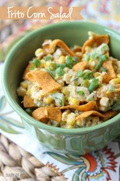 Frito Corn Salad made with Chili Cheese Fritos is a great make-ahead side dish!