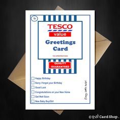 Tesco Value Birthday Card