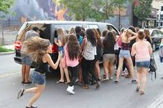 One Direction mobbed in Montreal