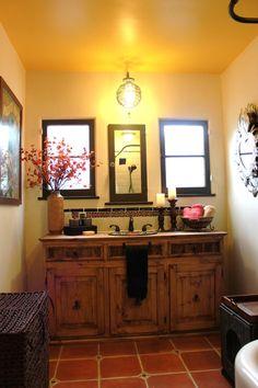 Bathroom Stall In Spanish diy decorating spanish style bathrooms | spanish style bathroom