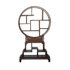 Chinese Round Top Tower Shape Display Curio Cabinet Room Divider For Sale Room Dividers For Sale, Antique Chinese Furniture, Asian Furniture, China Cabinet Display, Oriental Design, Oriental Style, Asian Design, Pattern And Decoration, Chinese Antiques