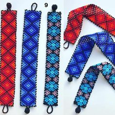 Beautiful bracelet of Huichol art in striking colors. Each of the pieces are handmade, can vary the size in 1 cm. If you have any questions please contact me.