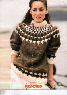 nice and warm Thick Sweaters, Cozy Sweaters, Sweaters For Women, Coat Patterns, Knitting Patterns, Knit Stranded, Icelandic Sweaters, Fair Isle Pattern, Sweater Design