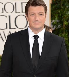 Nathan Fillion #GoldenGlobes #redcarpet