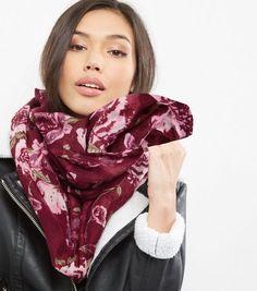 Écharpes Femme   Fausse fourrure   foulards. Écharpe Tube  Rouge Foncé ... cddf87509e5