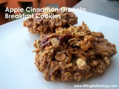 Calre's Apple Cinnamon Granola Breakfast cookies!