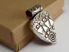 Sterling Silver Reversable Pendant Hollow by katherinefathisilver