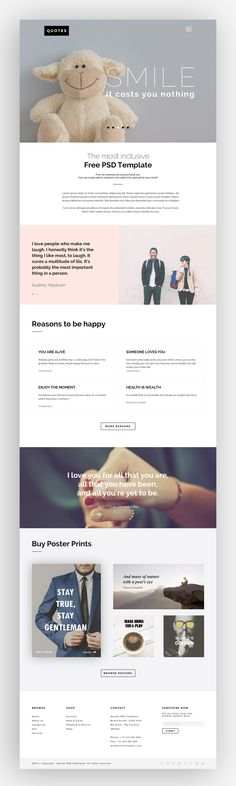 QUOTES: Free PSD Website Template