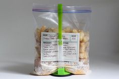 Cheesy Chicken Tater Tot Casserole Serves 4     32 oz bag frozen tater tots   3 oz bagbacon pieces   1 lb bone/skinless chickenbreasts,cutintobite-sizedpieces   8 oz cheddar cheese, shredded   3/4C milk    1/4t salt  1/4t pepper                                     Mixall ingred in gallonplasticfreezer bag,remove air & seal.  Freeze.The night before cooking,move to frig & thaw.   InAM,addto crockpotandcook on LOW for 4-6 hrs  Topwithsour cream and serve with peas.