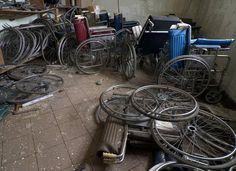 Wheelchair Repair - Photo of the Abandoned Broadacres Hospital Abandoned Asylums, Hospitals, Bicycle, Dreams, Website, History, Dark, Bicycle Kick, Bike