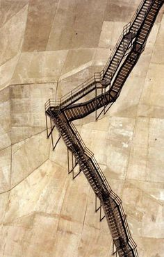 Maintenance stairway on the Coolidge Dam, near Globe, Arizona.