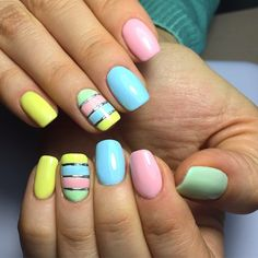 Manicure fashion trends 120 photos the most beautiful design - bright . Manicure fashion trends 120 photos the most beautiful design – bright manic - Cute Nail Colors, Cute Nails, Pretty Nails, Bright Colors, Nail Art Design Gallery, Best Nail Art Designs, Classy Nail Art, Cool Nail Art, Spring Nails
