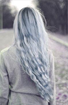 coloured grey hair, pretty.