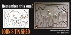 A while ago I showed 3 designs for a Wall art feature that the Customer could choose from. This was her choice. Tin Shed, Art Frames, How To Remove Rust, Steel Wall, Framed Wall Art, Design