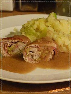 Krůtí závitky s parmskou šunkou a pórkem Czech Recipes, Sprouts, Beef, Chicken, Baking, Vegetables, Food, Hampers, Shower Party