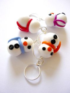 Snowman stitch markers set of 4 by AbsoKnittingLutely on Etsy, £8.00