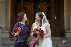 Such a sweet moment between Mother and Daughter. Mom was carrying a Nosegay bouquet in lieu of a corsage.