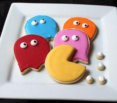 Pac Man cookies by Baking in Heels