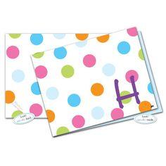 Bubble Gum Dots Note Card