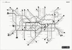 Map of London by Sony Walkman
